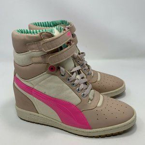Puma Contact Sky Womens Tan And Pink Sneakers 8.5